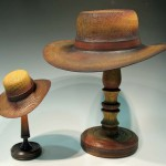 Andrew Hall. Oak hats, large/small coloured.