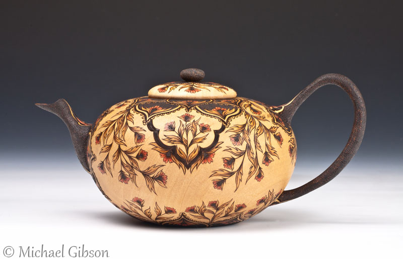 Cynthia Gibson Decorated teapot