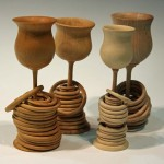 Darrell Rushworth. Goblets with captive rings