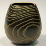 Liz Kent. Ash vase / gilt cream. Trowbridge exhibition