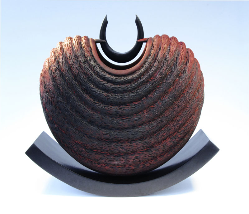 Mark Sanger Sycamore textured and coloures form 'Balance'