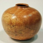 Mike Gibson. Oak hollow form. Trowbridge exhibition