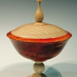 Peter Carless. Lidded rose bowl. Trowbridge exhibition