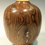 Phil Irons. Walnut lidded form. Trowbridge exhibition