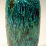 Phil Irons. blue hollow form