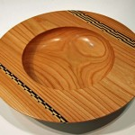 Richard Shock. Elm bowl with inlay. Trowbridge exhibition