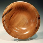 Rick Dobney. Spalted beech platter. Trowbridge exhibition