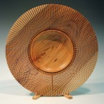 Rod Page. Lattice rim platter. Trowbridge exhibition