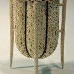 Trevor Lucky. Three legged pot. Trowbridge exhibition