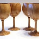 Paul Hannaby - Elm goblets
